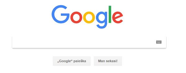 paieskos sistema google