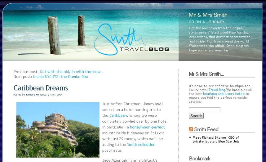 Blogging website example